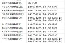 北京民政局上班時間,北京民政局上班時間表