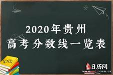 2020年贵州高考分数线一览表
